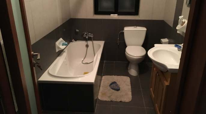 Designed bathroom flat to let in Malta