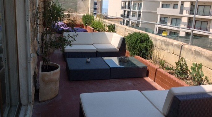 beautiful terrace in malta real estate