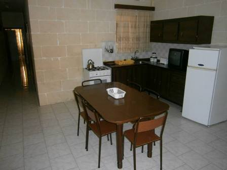 kitchen/ dining room area in gozo property