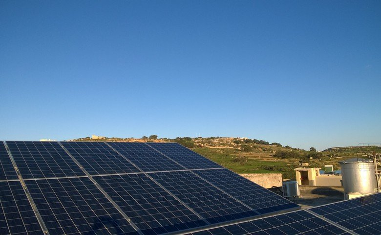Gozo property: Solar panels