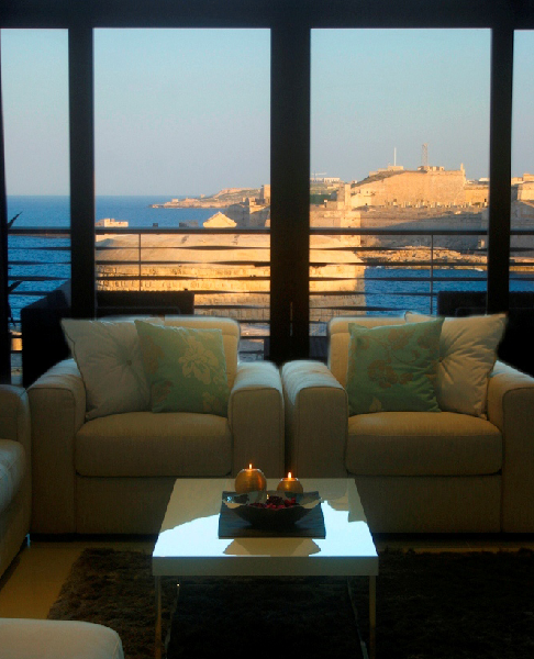 Living room in malta real estate