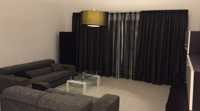 Modern living room in short let apartment Malta