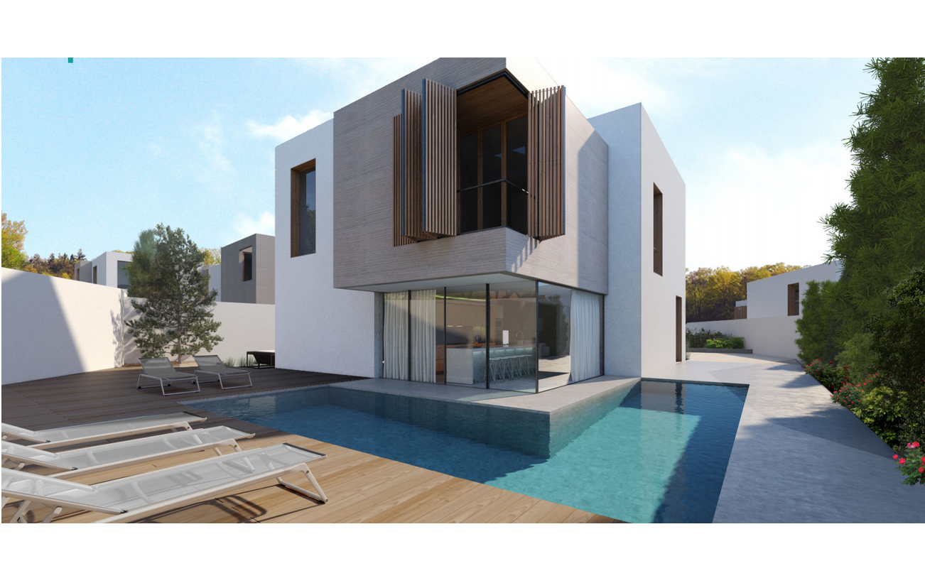 villas in malta: Pool and deck area