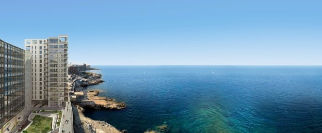 Malta property: sea views
