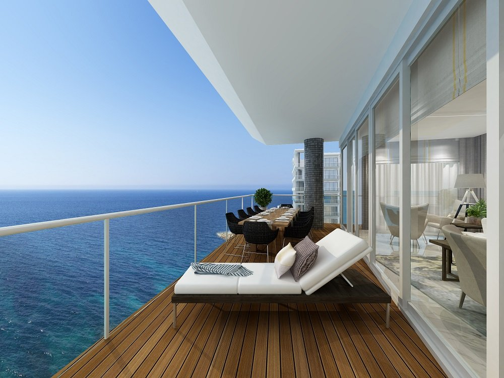 malta apartments for sale: Terrace with views