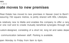 Feature:Real Estate moves to New Premises malta, property malta, letting malta, real estate malta, simon mamo malta