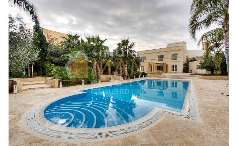 Superior villa with private swimming pool in st julians for Garden pool st julians