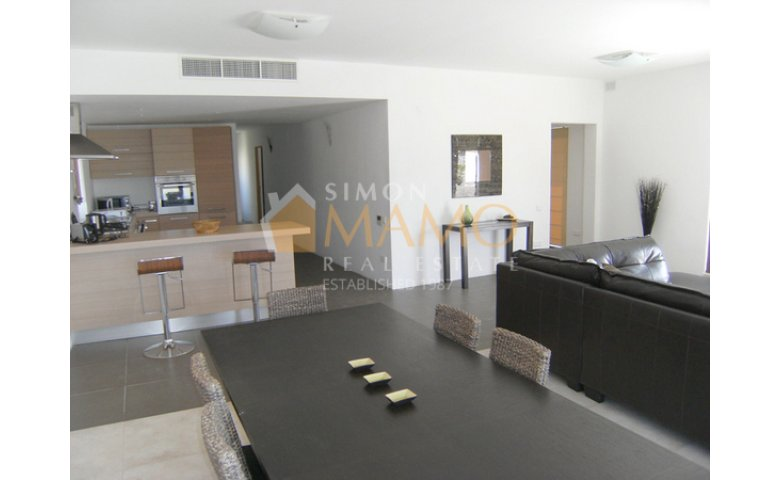 Modern bedroom penthouse with terrace and jacuzzi in sliema