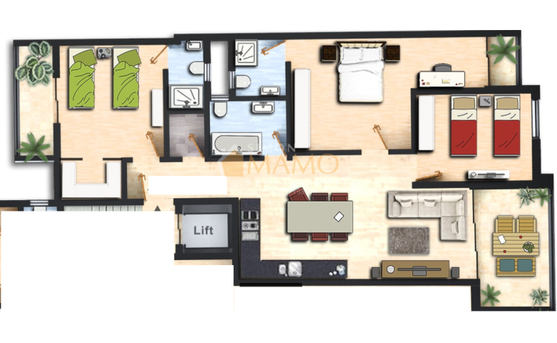 Malta real estate agents: New 3 Bedroom Apartments in ...