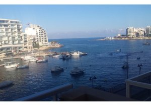 Apartment for rent in Malta: Seafront  2 bedroom apartment in St Julian's malta, property malta, letting malta, real estate malta, simon mamo malta